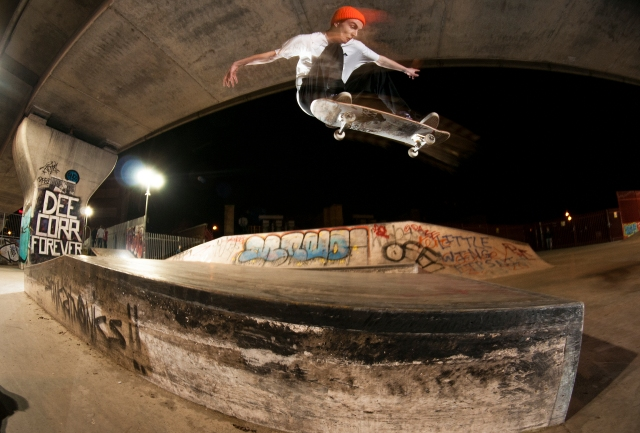 Bonkers ollie up then over pic by Dodds