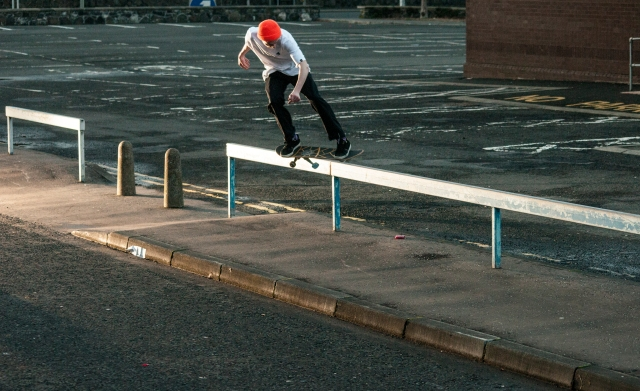 Jonny feeble grind in Antrim pic by Dodds