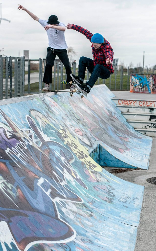 Mini and bonkers clongriffin skatepark - pic by Dodds